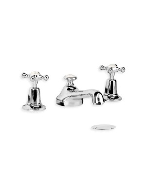 Lefroy Brooks 1900 Classic basin taps mixer with cross handles and pop-up waste CH1220 basin taps
