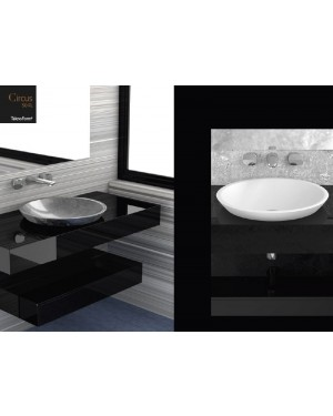 Lavabi a incasso Glass Design Da Vinci In Out lavabo a semi incasso Circus50 FL CIRCUS50FLPO01