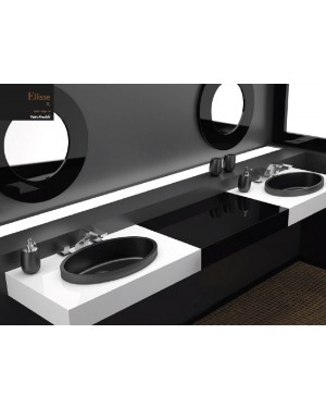 Lavabi a incasso Glass Design Da Vinci In Out lavabo a semi incasso Ellisse FL ELLISSE