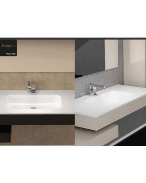 Lavabi a incasso Glass Design Da Vinci In Out lavabo integrato Jimmy In JMI510C820PO01