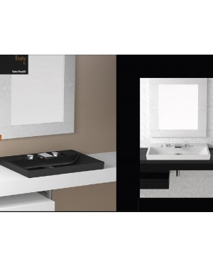 Lavabi a incasso Glass Design Da Vinci In Out lavabo a semi incasso Italy FL ITALYFLPO01M