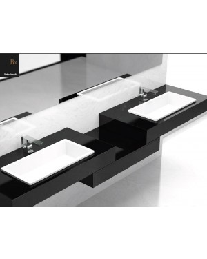 Lavabi a incasso Glass Design Da Vinci In Out lavabo a semi incasso Rx RXPO01